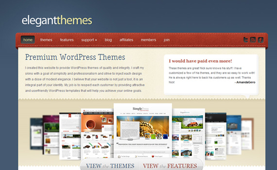 elegantthemes marketplace für premium wordpress themes