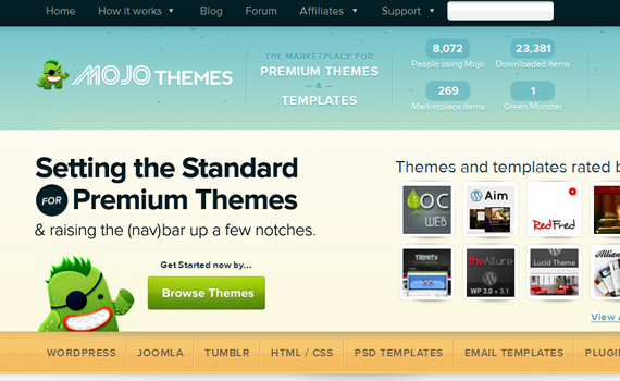 mojothemes-marketplaces für premium wordpress themes