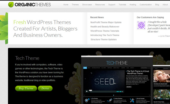 organicthemes-marketplace für premium wordpress themes
