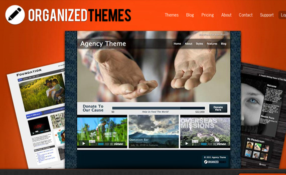 organizedthemes-marketplace für premium wordpress themes