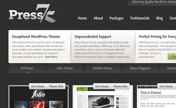 press75-marketplace für premium wordpress themes