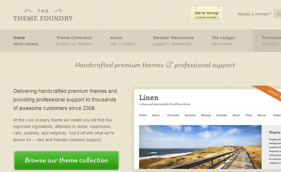 themefoundry-marketplace für premium wordpress themes