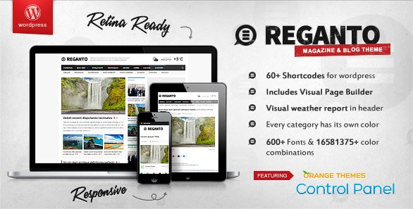 Reganto Magazin Theme Template