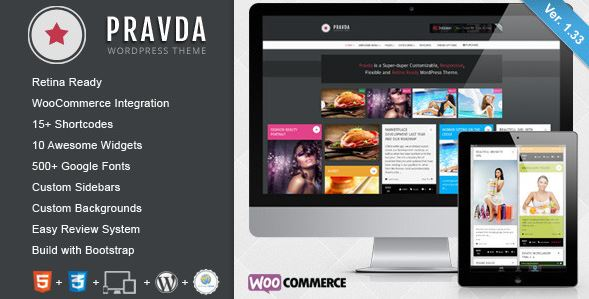 wordpress pravda theme