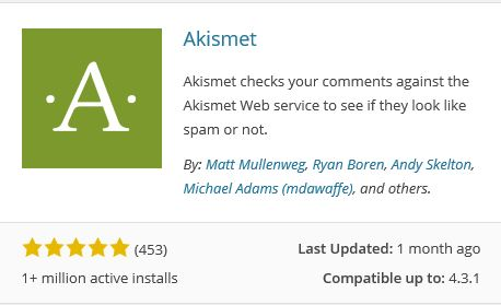 Worpress Plugin Akismet