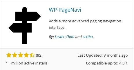 WP Page Navi Plugin
