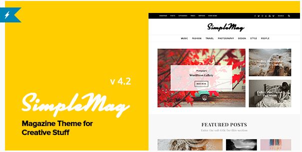 wordpress simple mag