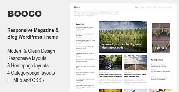 Booco Wordpress theme